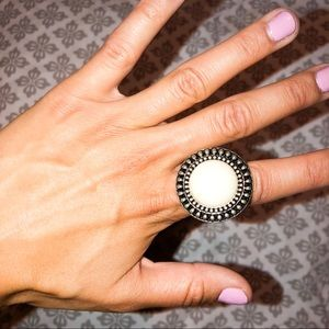 White and Silver Ring